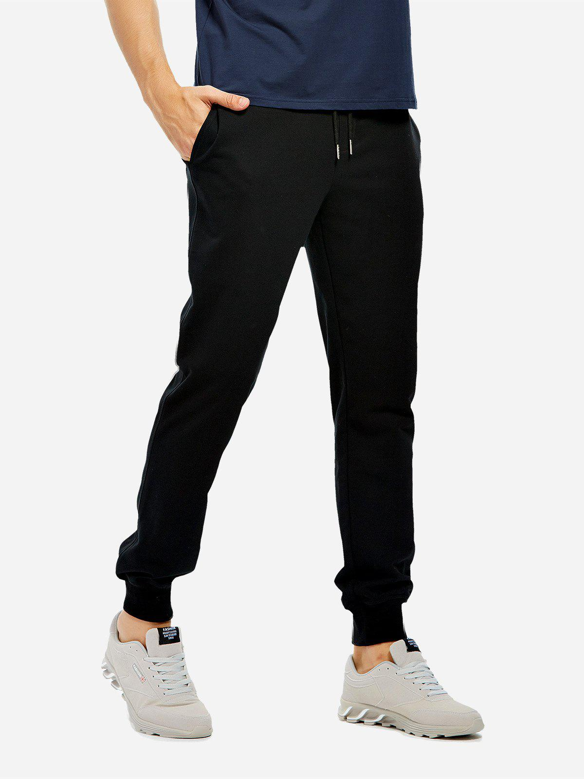 Cotton Sweatpants - BLACK L