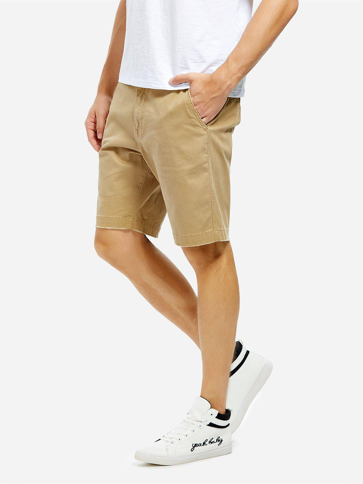 Knee Length Shorts - KHAKI 32