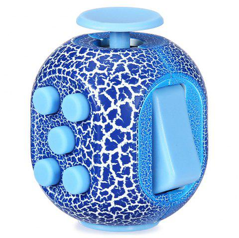 Crack Fidget Cube Style Stress Reliever Pressure Reducing Toy for Office Worker - BLUE