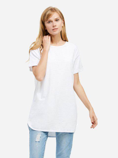 Longline T-shirt - WHITE 2XL