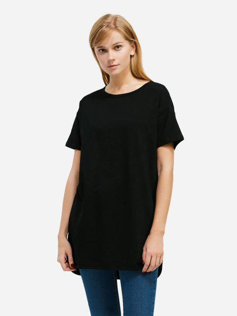Longline T-shirt - BLACK 2XL