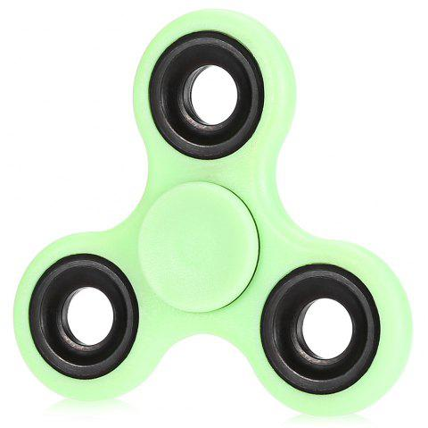 Luminous Fidget Spinner with Iron Bar ABS Plastic Stress Reliever Toy - GREEN