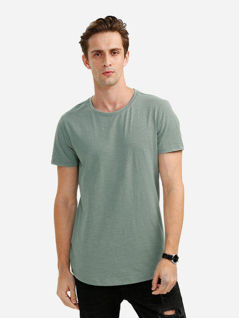 Round Neck T Shirt - GREEN L