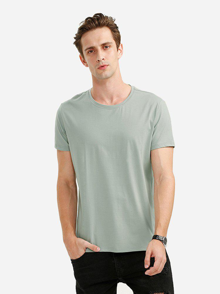 ZAN.STYLE Round Neck Tee - GREEN XL