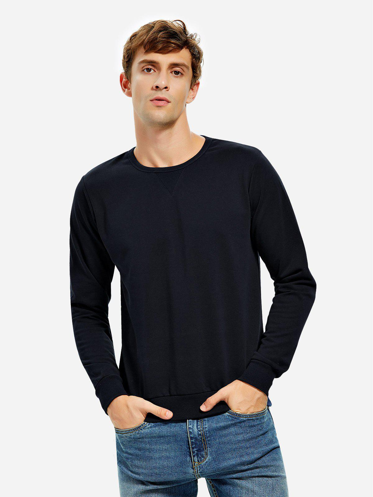 ZAN.STYLE Crew Neck Sweatshirt - DEEP BLUE 2XL
