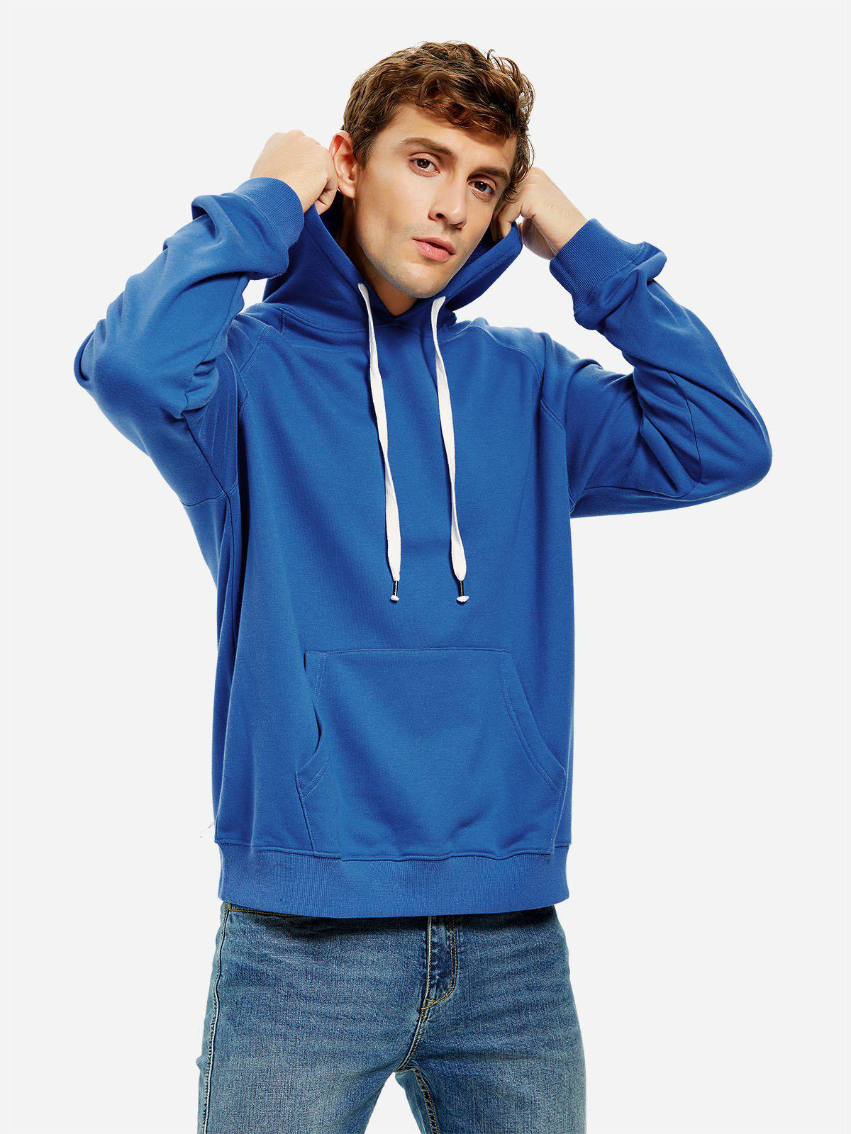 ZAN.STYLE Hooded Sweatshirt - BLUE 3XL