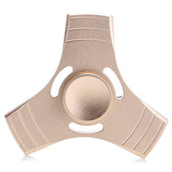 Aluminum Alloy Gyro Tri Fidget Spinner Stress Reliever Pressure Reducing Toy for Office Worker - GOLDEN