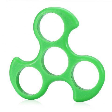 Three-leaf Fire Wheel ABS Frame with Covers for DIY Fidget Spinner - GREEN