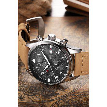 OCHSTIN Outdoor Frosted Surface Dial Male Quartz Watch - COFFEE
