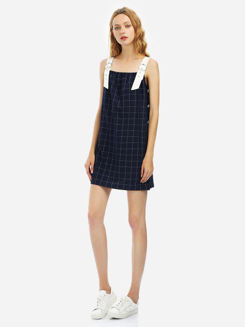 ZAN.STYLE Sleeveless Plaid Pattern Dress