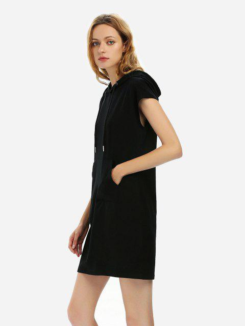 ZAN.STYLE Sleeveless Drawstring Dress Hoodie