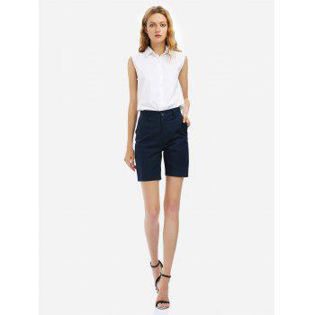 Cuffed Shorts - PURPLISH BLUE PURPLISH BLUE