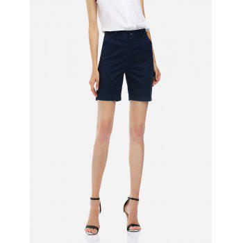 Cuffed Shorts - PURPLISH BLUE S