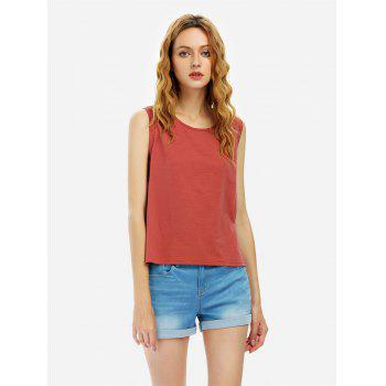 Cotton Tank Top - RUST RUST