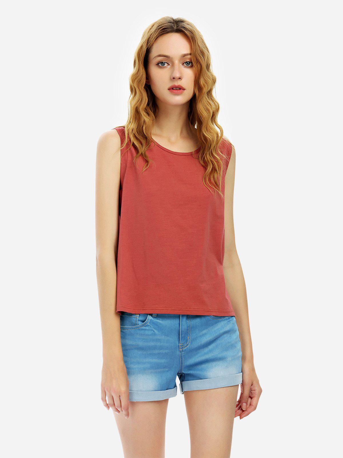 Cotton Tank Top - RUST M