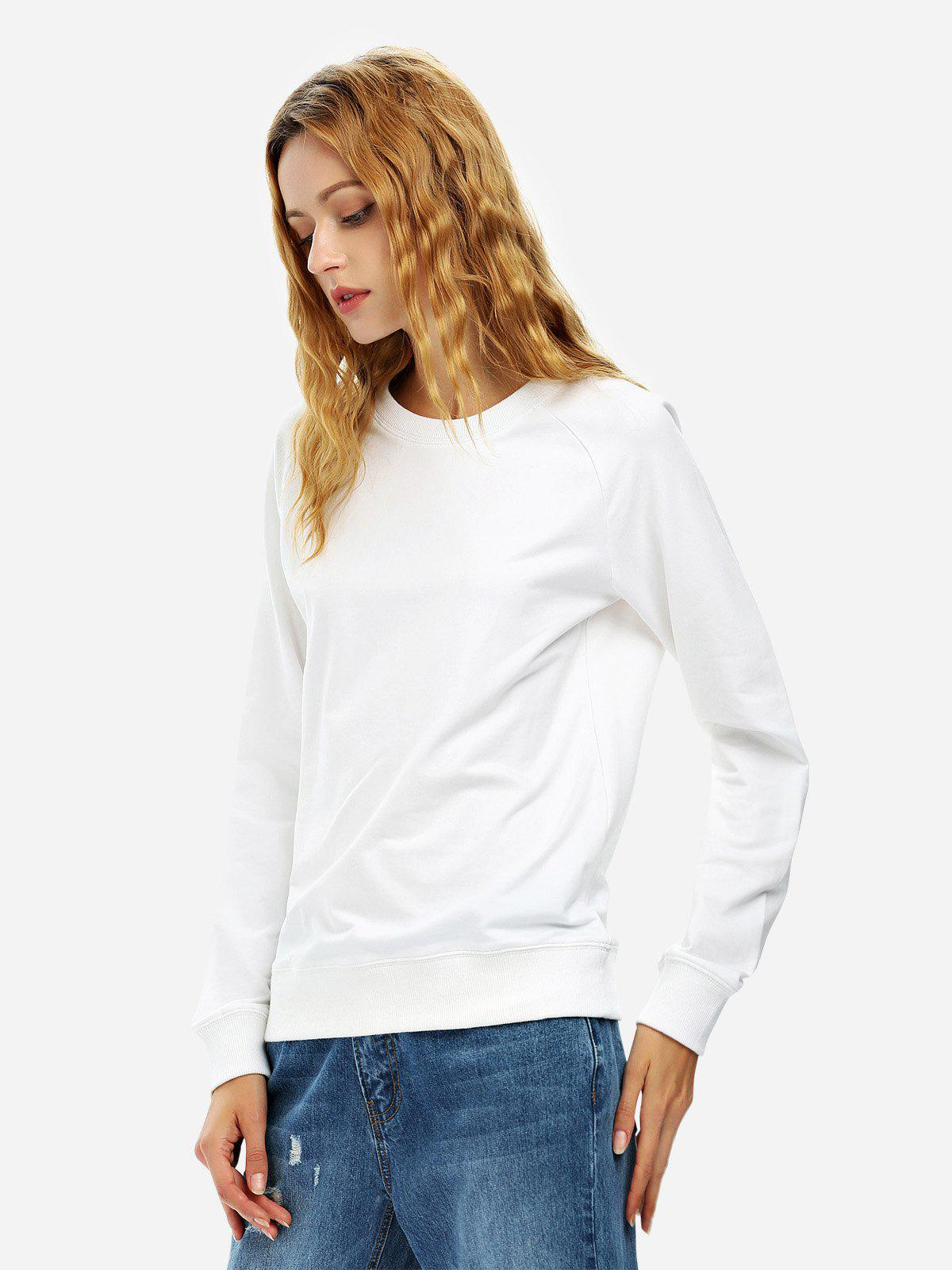 ZAN.STYLE Loose Fit Sweatshirt - WHITE M