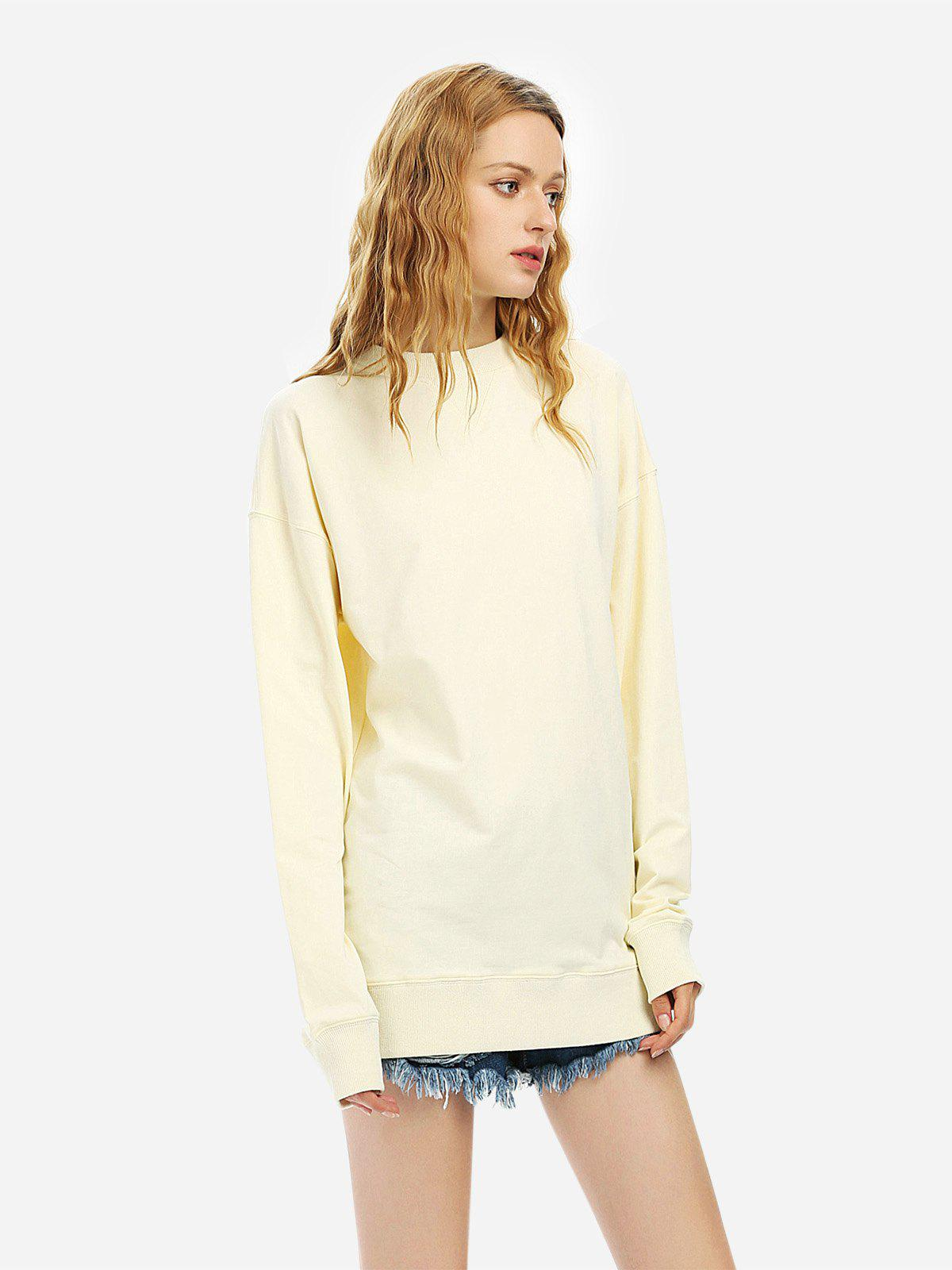 ZAN.STYLE Loose Fleece Sweatshirt - BEIGE M
