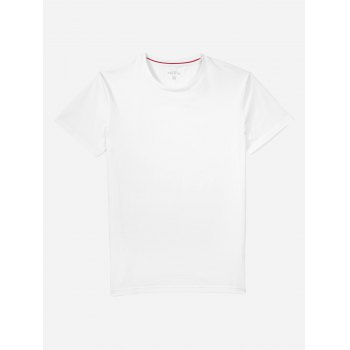 Crew Neck Side Slit T-shirt - L L