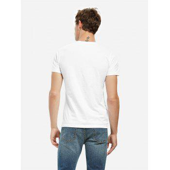 Crew Neck Side Slit T-shirt - WHITE WHITE