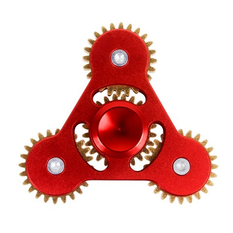 Linkage ADHD Fidget Toy Hand Tri-spinner Stress Relief Toy Relaxation Gift for Adults - RED
