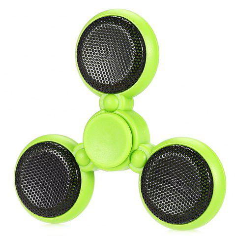 Bluetooth 4.0 Speaker LED Fidget Spinner with 5 Flashing Modes Communication Tool Music Player Fidgeting Toy for Adults - GREEN