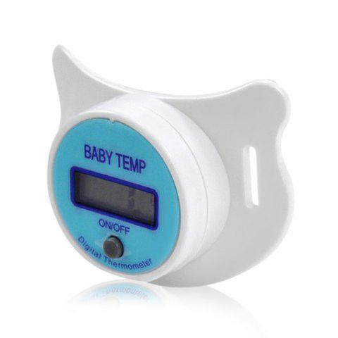 Digital Pacifier Thermometer with Sound Alarm for Baby Children - BLUE