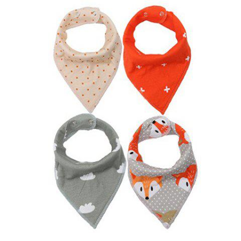 4PCS Cotton Baby Infant Saliva Towel Child Bib - COLORMIX