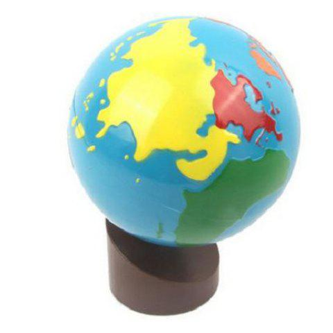 Baby Learning World Globe Eco-friendly Painting with Wood Base - COLORMIX