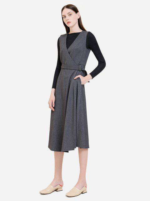 ZAN.STYLE Sleeveless Belted Dress Coat