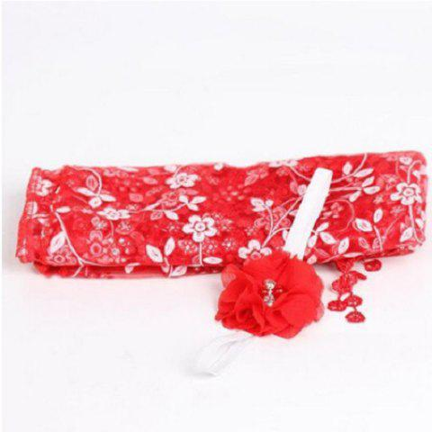 Newborn Maternity Silk Props Baby Photo Photography Quilt with Headband - RED