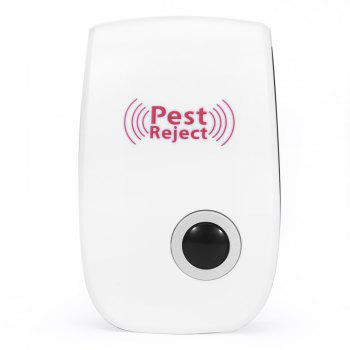 Multi-purpose Electronic Pest Repeller Ultrasonic Mosquito Rejector for Home Office - WHITE UK PLUG