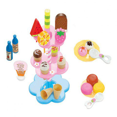 Colorful Ice Cream Dessert Child Play Toy - COLORMIX