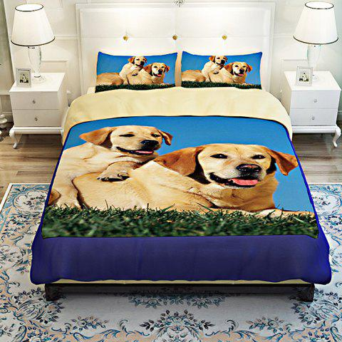 5-piece Polyester Bedding Set Golden Retriever Pattern Duvet Cover / Pillowcases / Flat Sheet / Fitted Sheet - COLORMIX FULL