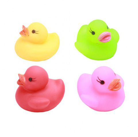 4pcsBaby ShowerLight Up Floating Duck Bath Toy - COLORMIX