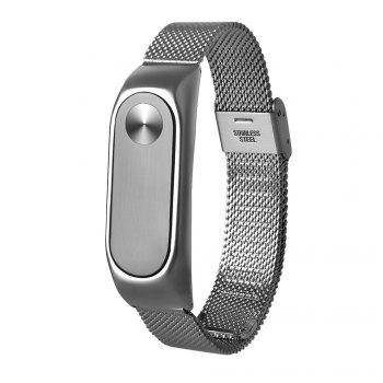 Stainless Steel Wristband for Xiaomi Mi Band 2 - SILVER STEEL BAND