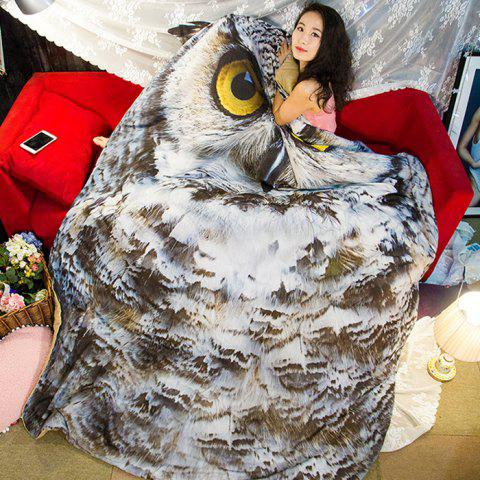 Owl Pattern Filled Air Conditioner Quilt Thin Comforter for Summer - COLORMIX FULL