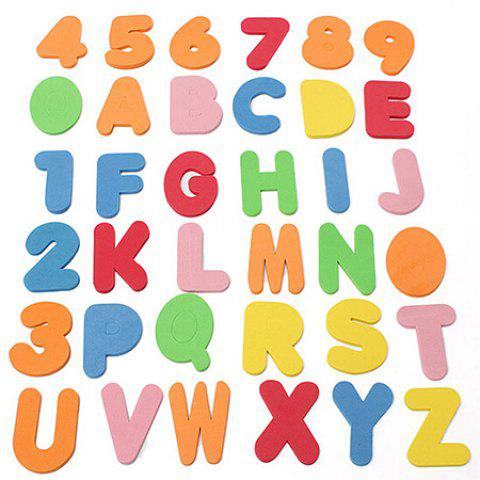 Educational Letters + Numbers Bath Toy Set - COLORMIX