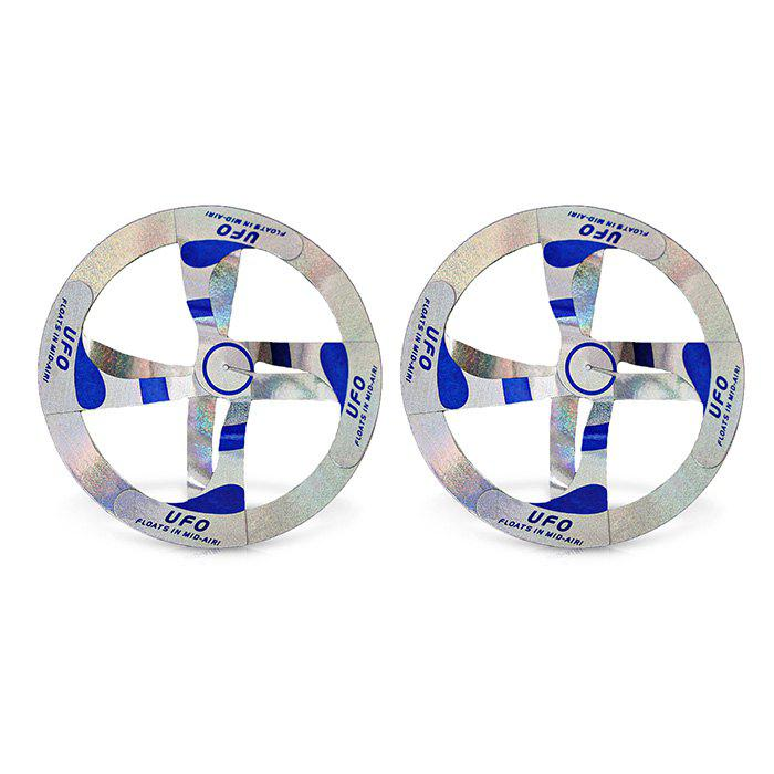 2pcs Mystery Floating Flying Saucer Toy Nice Magic Trick Prop - COLORMIX