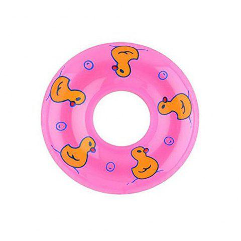 9cm Plastic Swimming Life Buoy for 1:6 Scale Baby Girl Doll House - PINK