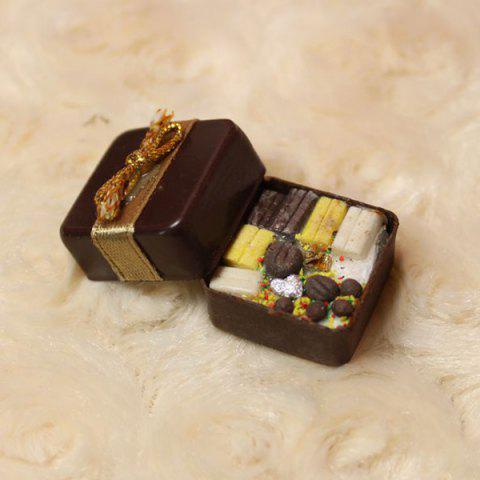 Miniature Food Box Filled with Chocolate Decor for 1:12 Doll House - COLORMIX