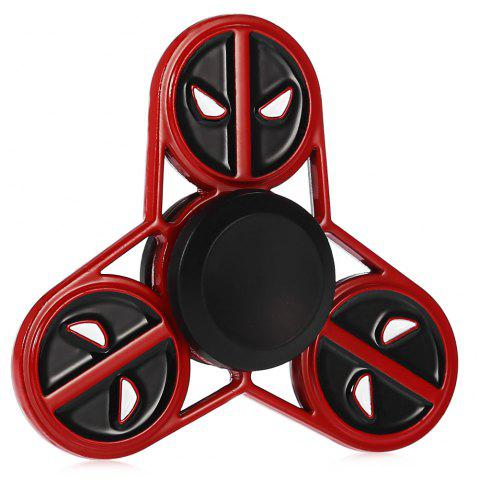Cute Round Face Devil Alliage Fidget Tri-spinner Détente Cadeau Jouet Fidgeting Adult - multicolore