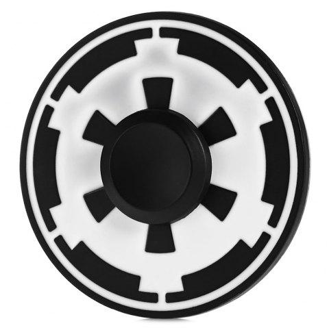 Round Helm Pattern Alloy Fidget Spinner Stress Relief Product Adult Fidgeting Toy - BLACK / WHITE