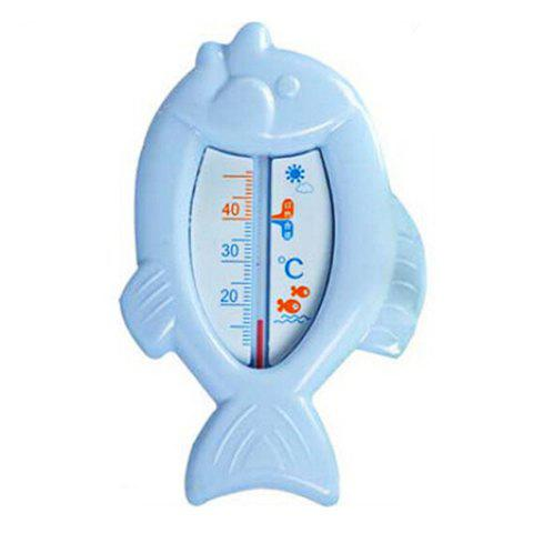 Practical Baby Bath Cartoon Fish Shape Water Thermometer Toy - BLUE