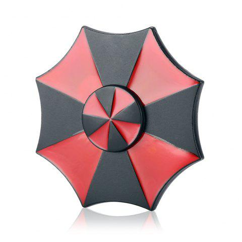 Magic Umbrella Alloy Fidget Spinner Funny Stress Reliever Fidgeting Toy for Adults - BLACK/RED