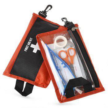 2PCS 12 in 1 Emergency First Aid Kit Medical Bag for Outdoor Survival Adventure Travel Home Use - RED