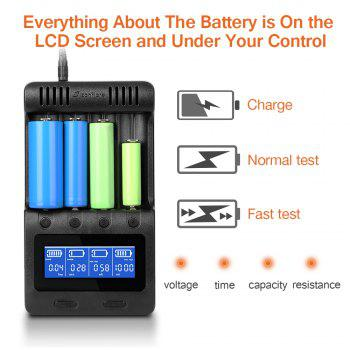 zanflare C4 Multifunctional Battery Charger - BLACK US PLUG