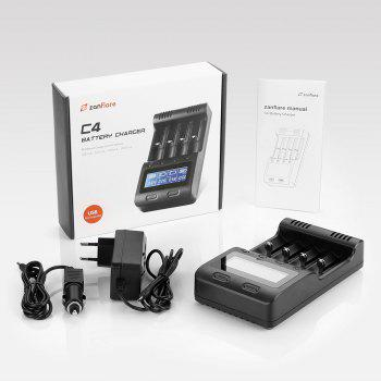 zanflare C4 Multifunctional Battery Charger - BLACK EU PLUG