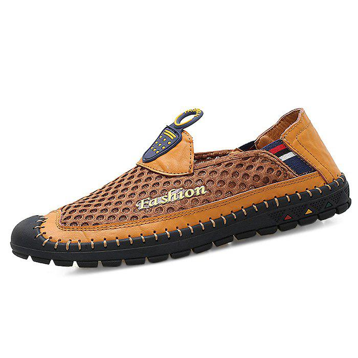 Leisure Breathable Slip-on Oxford Shoes for Men - BROWN 42