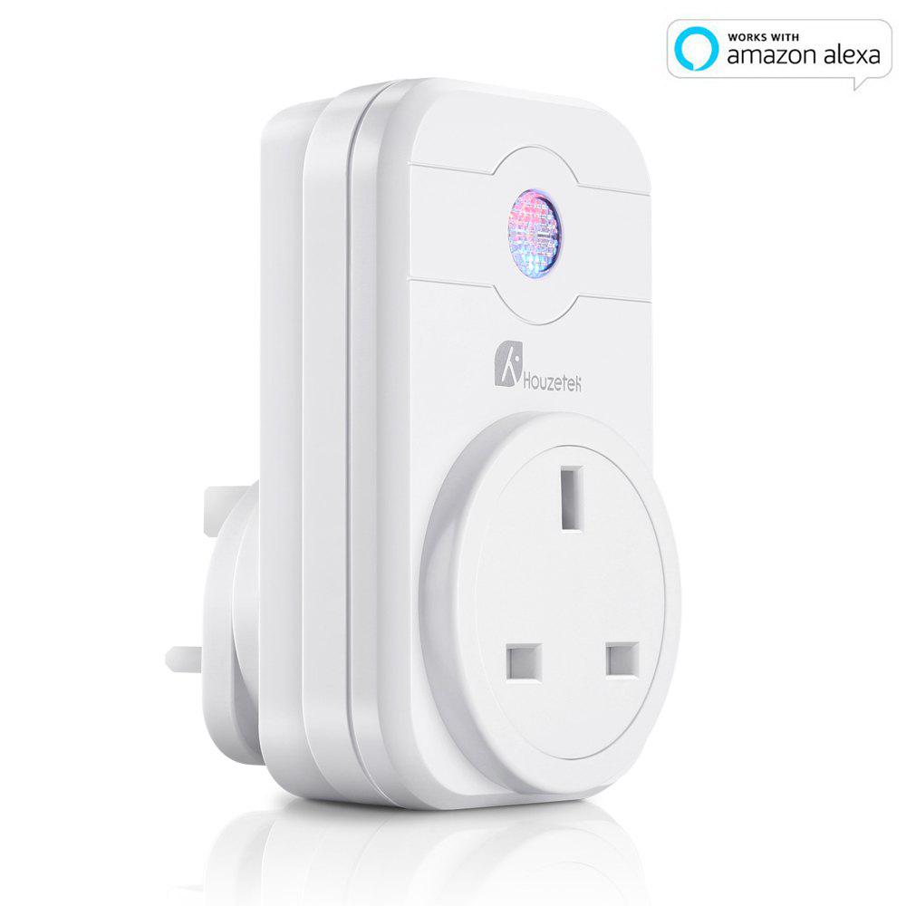 2018 houzetek swa1 wifi smart plug white uk plug in smart. Black Bedroom Furniture Sets. Home Design Ideas