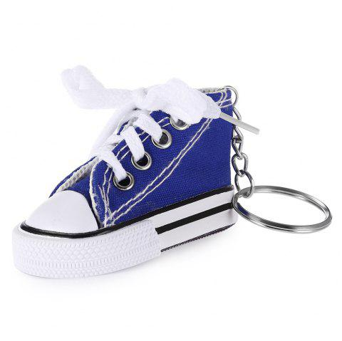 Emulational Classical Canvas Shoes Modeling Key Chain Holder Decor for Bags - DEEP BLUE